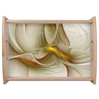 Bandeja Cores de metais preciosos, arte abstrata do