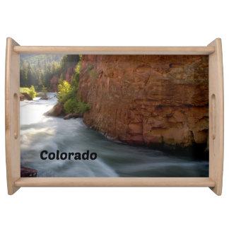 Bandeja Córrego da montanha rochosa de Colorado