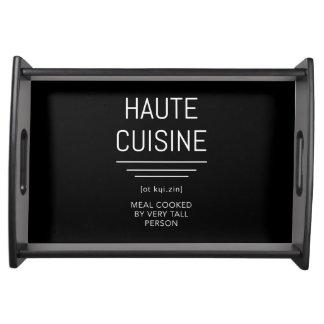 Bandeja Cozinheiro chefe francês engraçado da culinária de