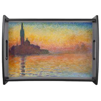 Bandeja Crepúsculo em Veneza por Claude Monet