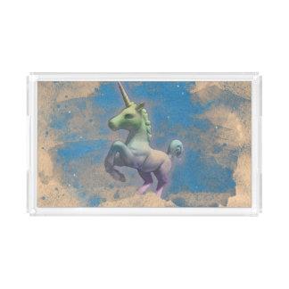 Bandeja da vaidade do unicórnio (azul de Sandy)
