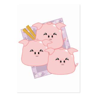 Bandeja das bolinhas de massa da carne de porco cartão de visita grande