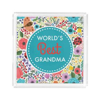 Bandeja De Acrílico A melhor avó do mundo