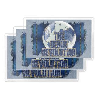 Bandeja De Acrílico A revolução da sarja de Nimes