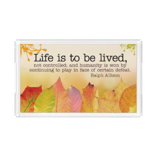 Bandeja De Acrílico A vida deve ser vivida