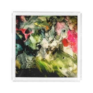 Bandeja De Acrílico Abstrato da paleta