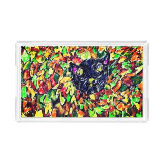 Bandeja De Acrílico arte 2 do gato preto