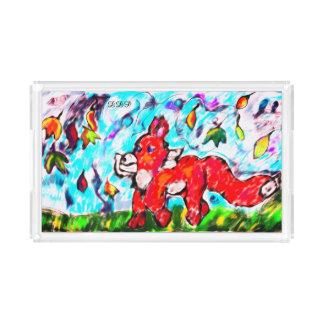 Bandeja De Acrílico Arte dois do outono do Fox