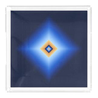 Bandeja De Acrílico Azul e diamante de Tan