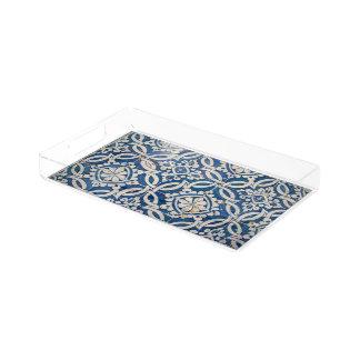 Bandeja De Acrílico Azulejo do português do vintage
