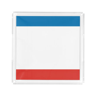Bandeja De Acrílico Bandeira de Crimeia