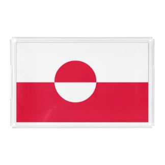 Bandeja De Acrílico Bandeira de Greenland