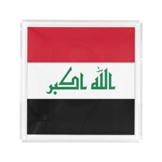 Bandeja De Acrílico Bandeira de Iraque