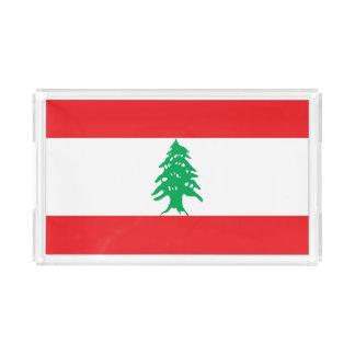 Bandeja De Acrílico Bandeira de Líbano
