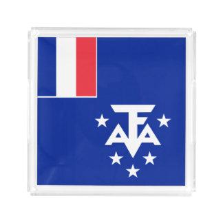Bandeja De Acrílico Bandeira do sul e antárctica francesa das terras