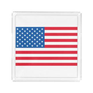 Bandeja De Acrílico Bandeira dos Estados Unidos da bandeira dos EUA