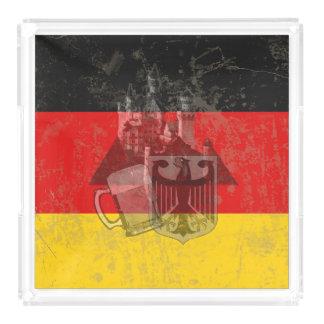 Bandeja De Acrílico Bandeira e símbolos de Alemanha ID152