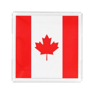 Bandeja De Acrílico Bandeira nacional patriótica de CANADÁ