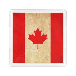 Bandeja De Acrílico Bandeira nacional patriótica do vintage original