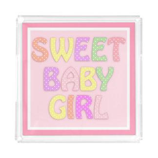 Bandeja De Acrílico Bebé doce