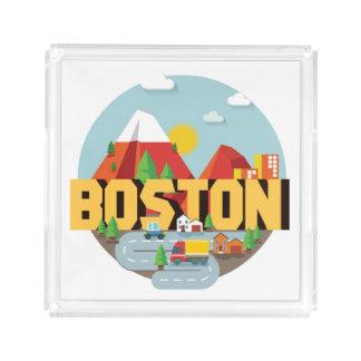 Bandeja De Acrílico Boston como um destino