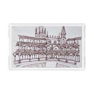 Bandeja De Acrílico Claustro | Lisboa do monastério de Jeronimos,