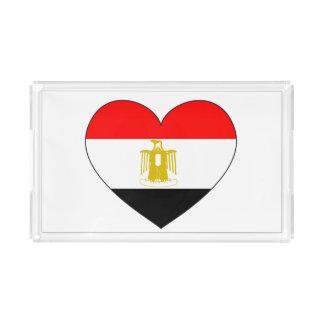 Bandeja De Acrílico Coração da bandeira de Egipto