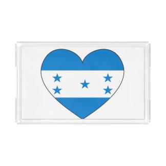 Bandeja De Acrílico Coração da bandeira de Honduras
