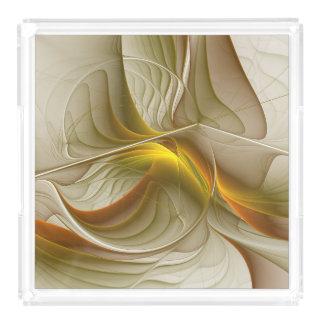 Bandeja De Acrílico Cores de metais preciosos, arte abstrata do