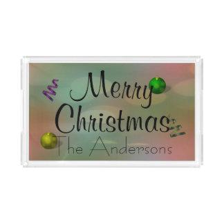 Bandeja De Acrílico Cores do Natal