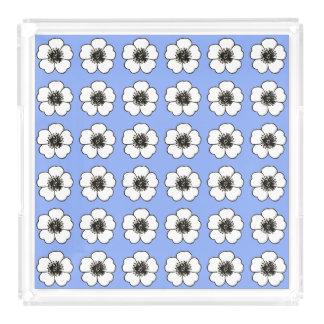 Bandeja De Acrílico Cornflower-Blue-Cottage-Flower's-TRAY_Home-Decor