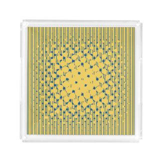 Bandeja De Acrílico Densidade no amarelo da prímula & no azul de Lapis