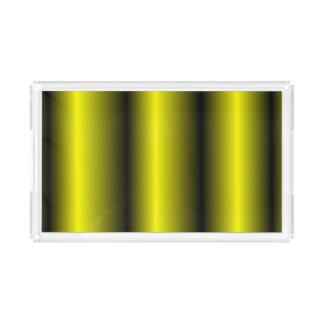 Bandeja De Acrílico Design amarelo e preto do zangão da listra