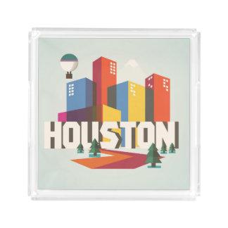 Bandeja De Acrílico Design de Houston, arquitectura da cidade de Texas