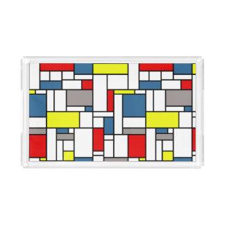 Bandeja De Acrílico Design do estilo de Mondrian