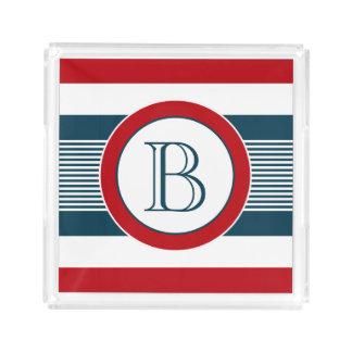 Bandeja De Acrílico Design do monograma