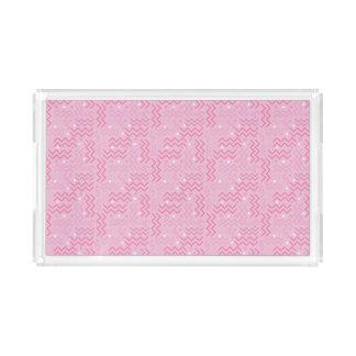 Bandeja De Acrílico Design Funky de Memphis do rosa Pastel