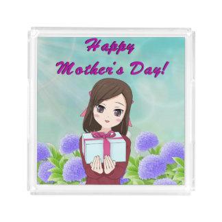 Bandeja De Acrílico Dia das mães atual