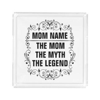 Bandeja De Acrílico Dia das mães feliz da mamã