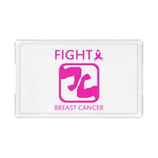 Bandeja De Acrílico Dobrando os braços para lutar o cancro da mama