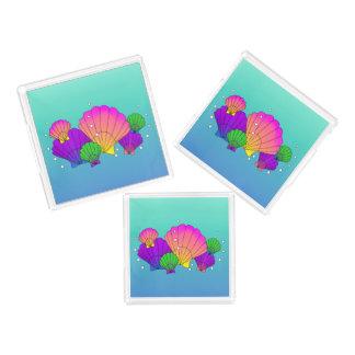 Bandeja De Acrílico Escudos do mar das caraíbas com bolhas