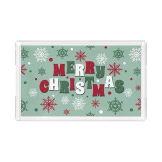 Bandeja De Acrílico Feliz Natal