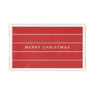 Bandeja De Acrílico Feliz Natal moderno simples
