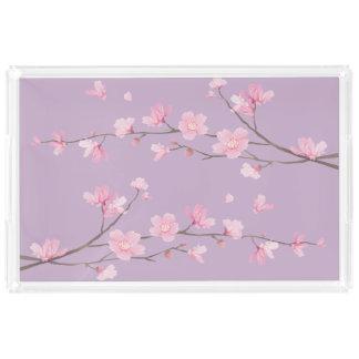 Bandeja De Acrílico Flor de cerejeira