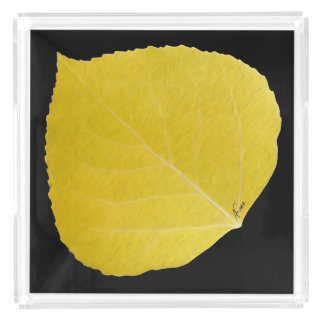 Bandeja De Acrílico Folha amarela #5 de Aspen