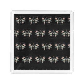 Bandeja De Acrílico Formulários e pontos geométricos Pastel no preto