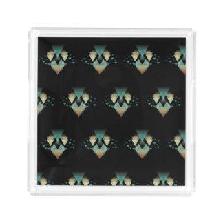 Bandeja De Acrílico Formulários geométricos Pastel no preto