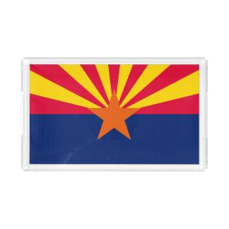 Bandeja De Acrílico Gráfico dinâmico da bandeira do estado da arizona