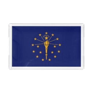 Bandeja De Acrílico Gráfico dinâmico da bandeira do estado de Indiana