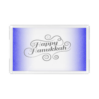 Bandeja De Acrílico Hanukkah feliz
